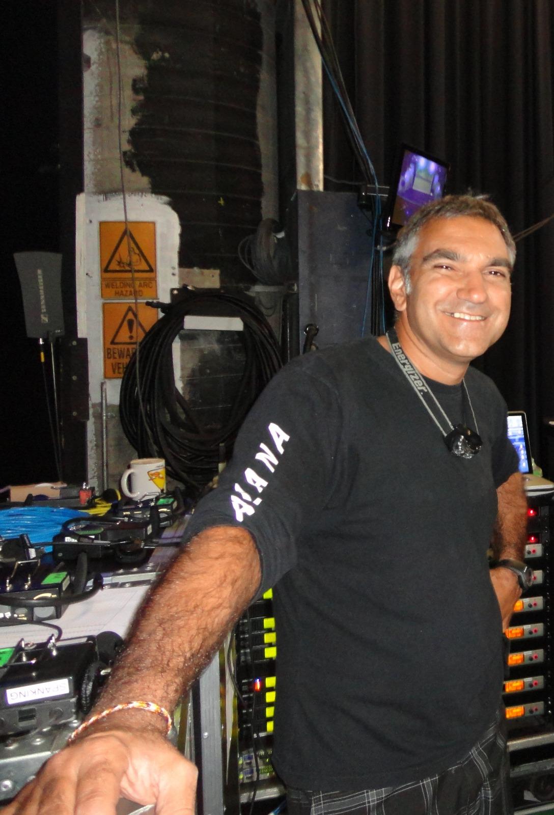 Jorge Sánchez, Técnico de Sonido